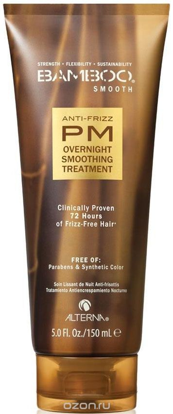 Alterna Bamboo Smooth Anti-Frizz PM Overnight Smoothing Treatment Ночной разглаживающий уход, 150 мл