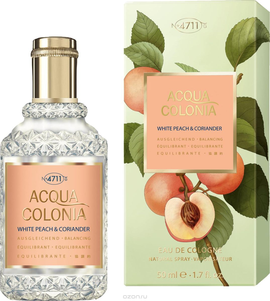 4711 Acqua Colonia Balancing White Peach & Coriander ќдеколон, 50 мл